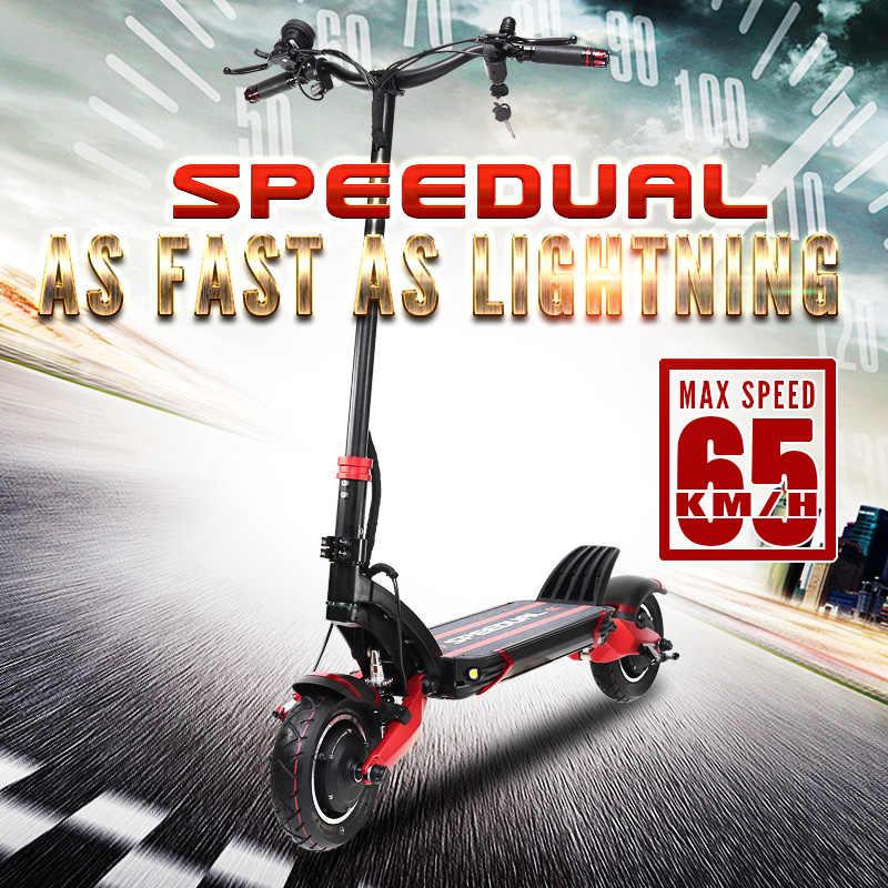 Macury Speedual 10 بوصة المزدوج سكوتر بموتور كهربائي 52 V 2000 W على الطرق الوعرة E-سكوتر 65 km/h محرك مزدوج t10-ddm الصفر 10X قبالة الطريق