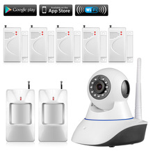Wi-fi 720P IP Safety Digicam WiFi IP Digicam Child Monitor house retailer care HD Digicam  Dwelling Alarm System Smoke Gasoline Detector