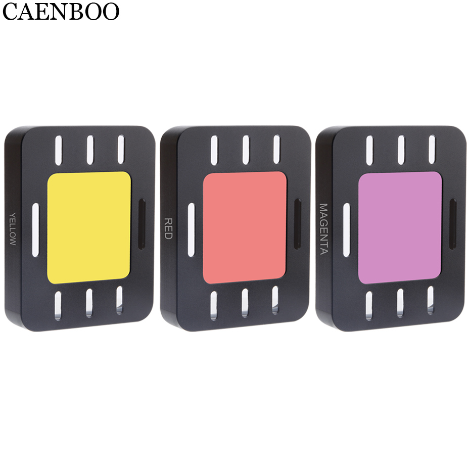 CAENBOO Action Camera Filter Set Colorful Swim Diving Red For <font><b>Sony</b></font> <font><b>HDR</b></font>-AS50 AS50R AS300 <font><b>AS300R</b></font> X3000R MPK-UWH1 Dive Housing Case image