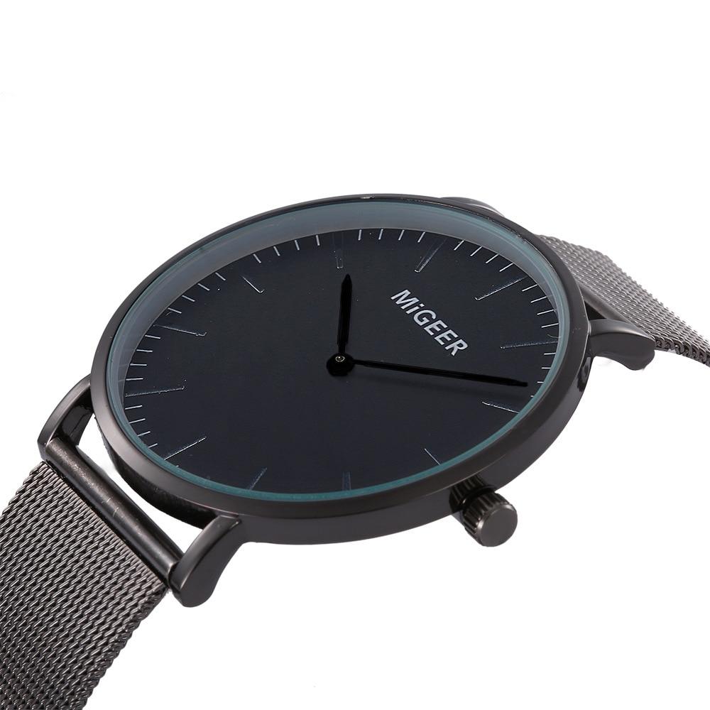 ae231625d0e6 Мужские s часы лучший бренд класса люкс ультра-тонкие мужские часы женские  часы металлическая сетка модные мужские часы кварцевые часы erkek к.