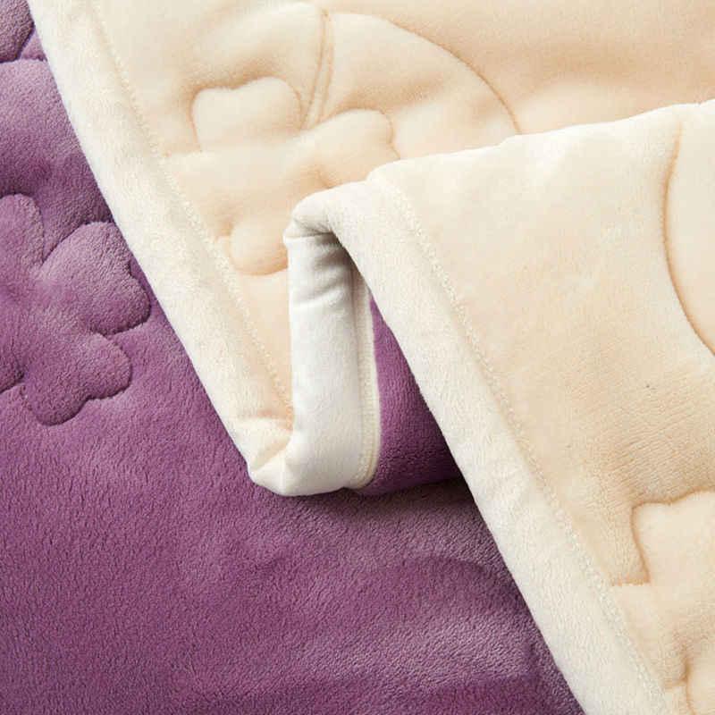 Nueva alta calidad hogar sólido mantas en color Coral alfombra Coral polar manta de invierno cálido conjunto de cama acolchado funda de franela