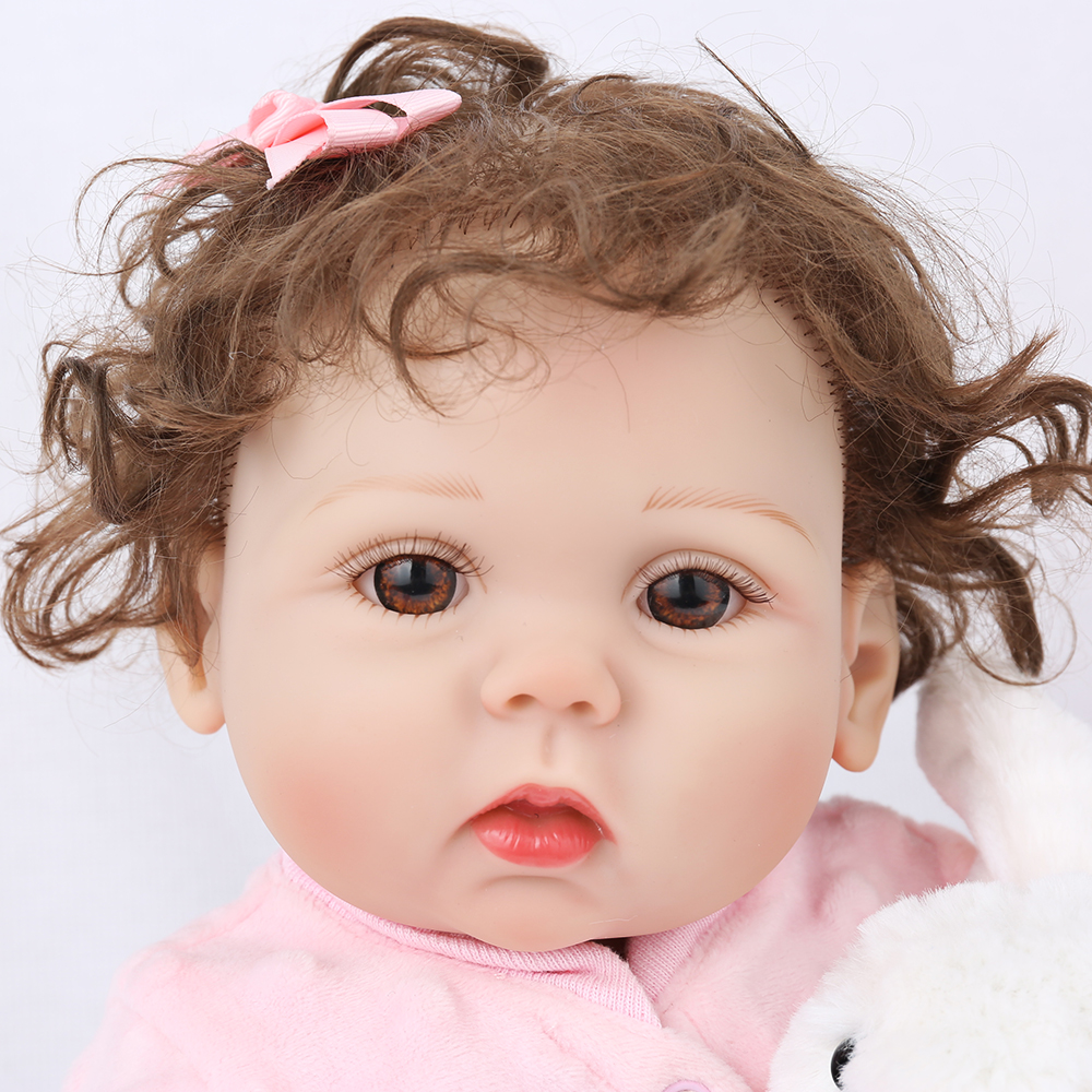 NPKDOLL Reborn Baby 18 inch Full Vinyl Lifelike Bebe toys kids children Fake Infant Educational Bath Kids Playmate Babe Boneca - Toddler Friend