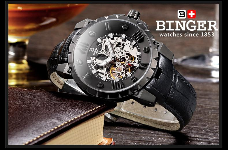 Švicarska BINGE satovi muškarci luksuzni brand mehanički ručni - Muški satovi - Foto 3