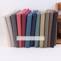 Super Thick Washed Cotton Canvas Fabric Width 145CM Handmade Cloth Handmade Fabric Bags Patchwork 4 Pieces