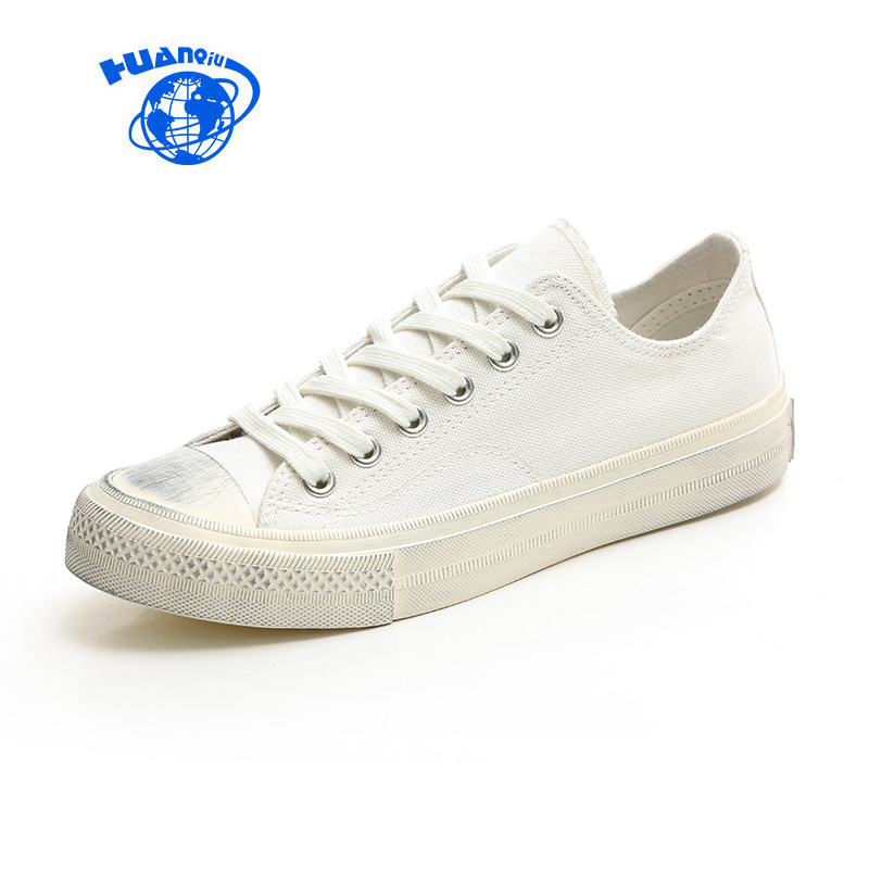 HUANQIU Women Black Shoes Dirty Canvas Shoes Yellow New Fashion Trends All Match Solid Colors Girls Casual White Shoes 35-39 hua