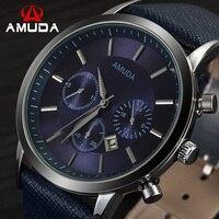 2016 Men Watch Mens Top Luxury Brand Leather Strap Casual Quartz Sports Waterproof Watches Wristwatches Relogio