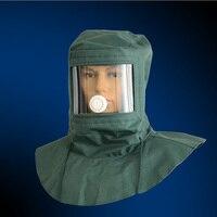 산업용 먼지 연마 스프레이 페인트가있는 보호용 mas 먼지 마스크 샌드 블라스팅 먼지 특수 안전 마스크 Protective shawlcap