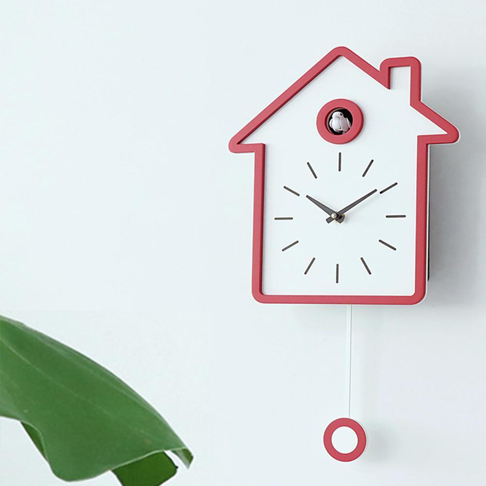 AUGKUN coucou horloge salon mur réveil oiseau bref moderne carillon horloge enfants enfants décorations maison ornements - 2