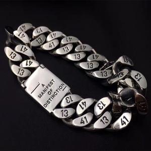 Image 2 - 83g alibaba express 925 prata esterlina jóias pulseiras para homens vintage s925 sólido thai prata corrente pulseiras