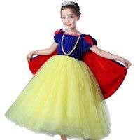 Babys Kurzen Ärmeln kleid Prinzessin schneewittchen Cosplay Kristall Kostüm vestidos kinder Lange Ballkleid partei tutu kleider