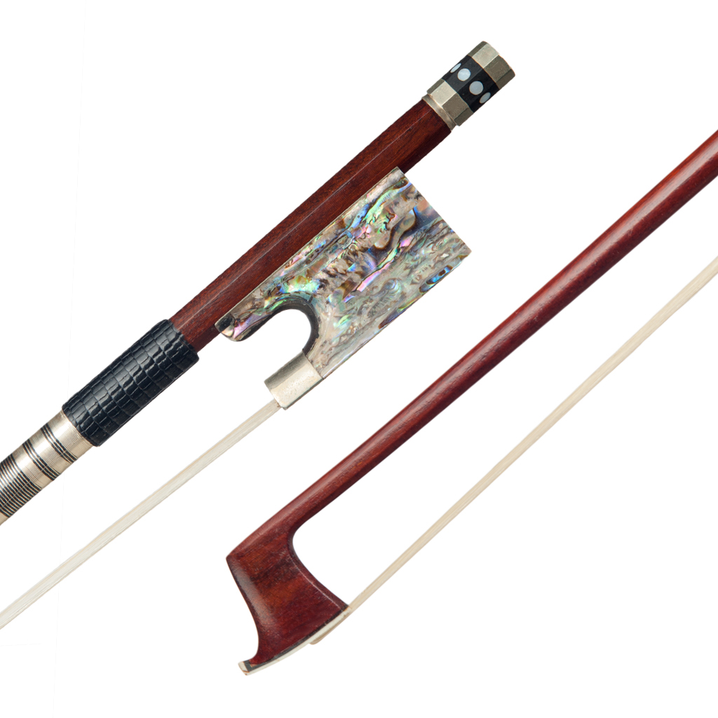 4 4 Violin Bow Pernambuco Wood Bow Abalone Shell Frog Good Balance For 4 4 Violin