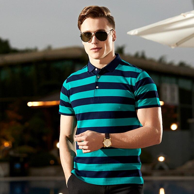 100% Wahr Gestreiften Polo Männer Sommer Kurzarm Qualität Baumwolle Männer Polos Männlichen Marke Chinesische Kleidung Schnell Trocken Top Tees 2019 Frühling Neue Rot GüNstige VerkäUfe