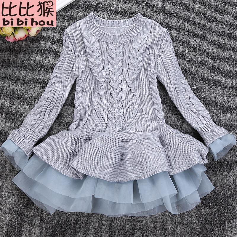 308d4323cc722 Bibihou Girl Winter Dress 2017 Fashion Spring Autumn Princess Girl Long  Sleeve Sweater TuTu Dress Kid Christmas Dresses For Girl. looks good in  design, ...