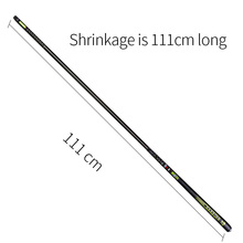 Handing 3.6-8.1m Telescopic Fishing Rod Carbon Fiber Fishing Pole Ultra-light Carp Rod super hard Stream Hand rod for big fish