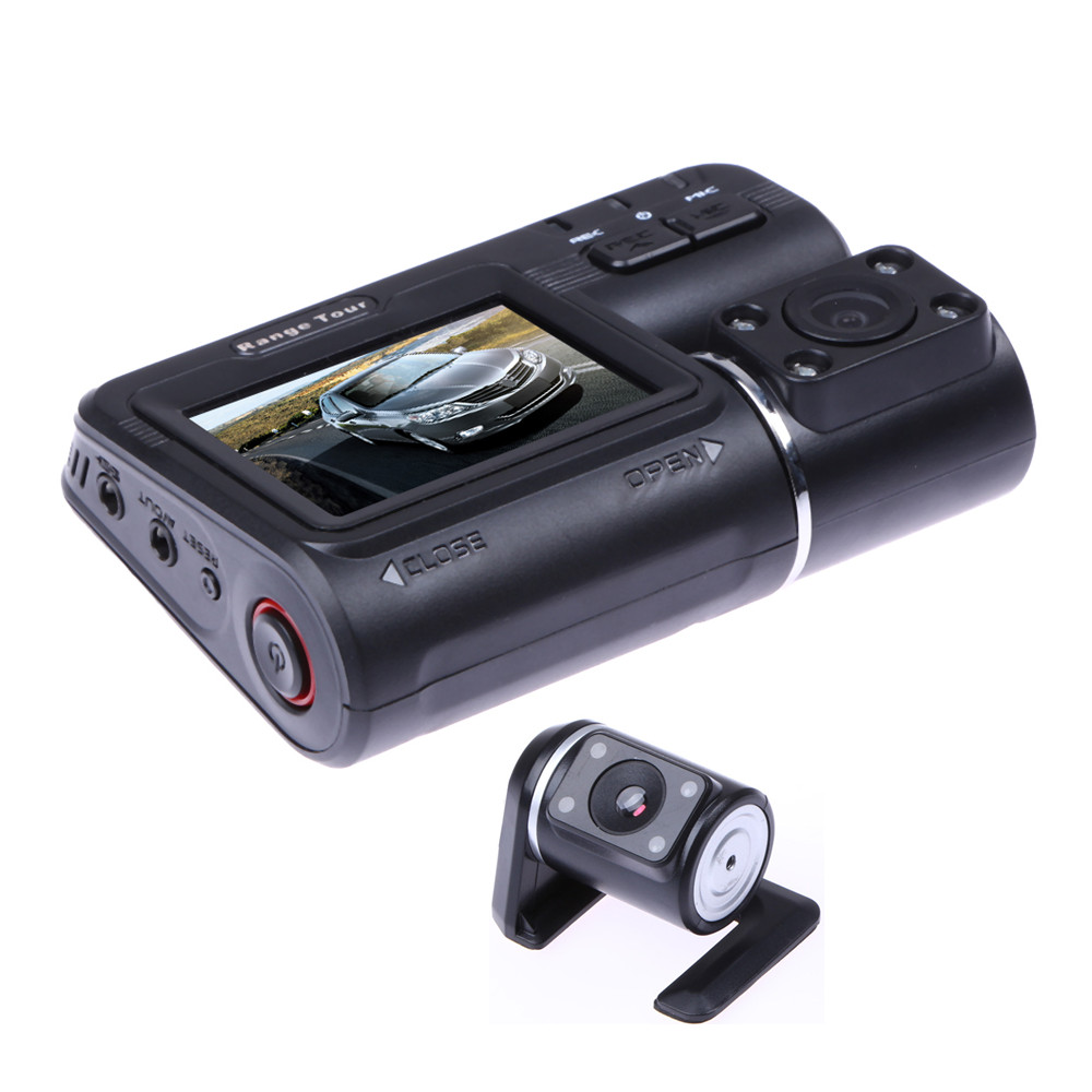 2.0 Car Camera DVR Dual Lens Rearview Mirror Video Recorder FHD 1080P Automobile LCD Dash Cam Auto Motor Dashcam Camcorder ...