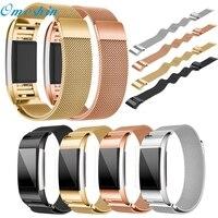 OMESHIN Simplestone Milanese Paslanmaz Çelik Watch Band Kayış Bilezik + HD Film Için Fitbit Şarj 2 Dec6
