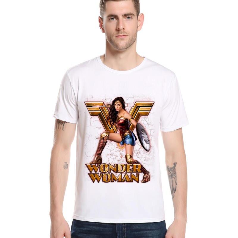 Новое поступление Wonder Woman одежда «Супергерои» принт Лето Мода Прохладный Дизайн Новый стиль футболка творческий топ с принтом Unisex Tee L1-F13
