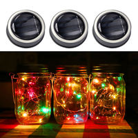 Color Changing Fairy Light 3 Pcs Solar Mason Jar Fairy Light With Color Changing LED For