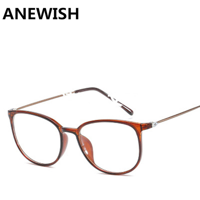 8603b732a7c ANEWISH New style oval shape brown eyeglasses frames women super light  female glasses frame eyewear men-in Eyewear Frames from Apparel Accessories  on ...