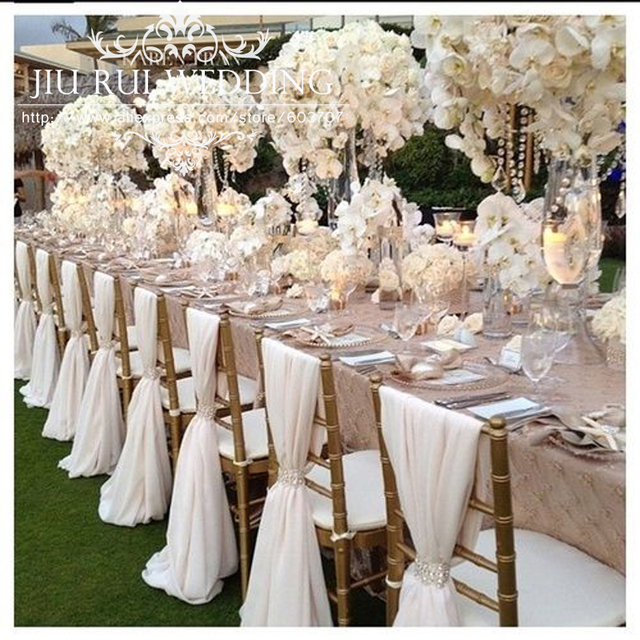 80pcs free shipping white chiffon chiavari chair sash chair cover 80pcs free shipping white chiffon chiavari chair sash chair cover for wedding decoration junglespirit Choice Image