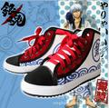 Anime Gintama Silver Soul Cosplay Gintoki Gin Japanese Cosplay Costume shoes sport school canvas shoes