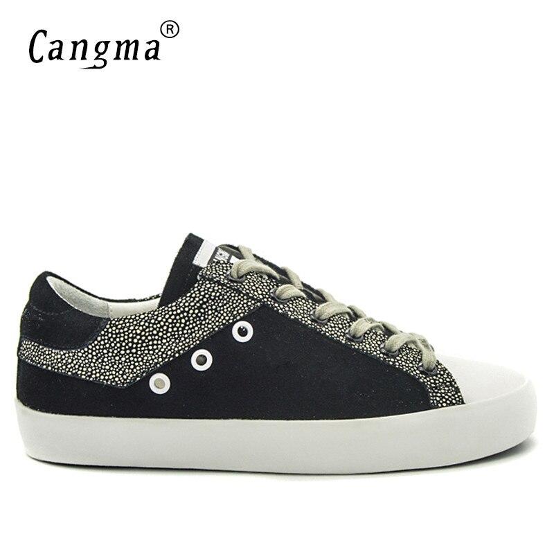 CANGMA mężczyźni trampki czarny biały oddychające oryginalne skórzane buty męskie Plus rozmiar Valentine buty na co dzień obuwie 2019 nowy w Męskie nieformalne buty od Buty na  Grupa 1