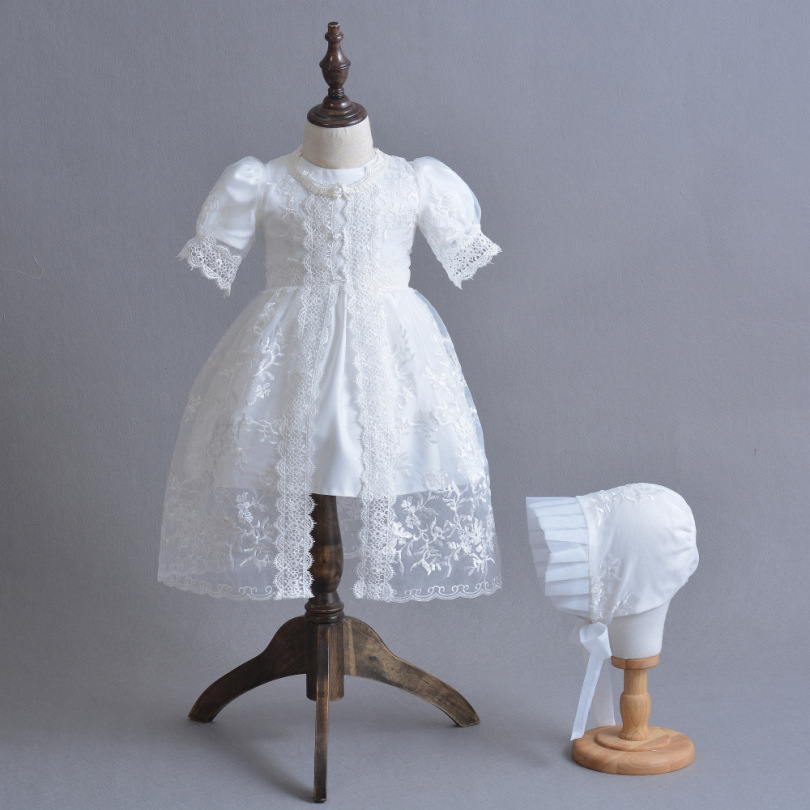 Baby Christening Gowns 1 Year Birthday Princesss Party Wedding Baby Dress Lace Baptism Dress vestido infantil Baby Girls Dress