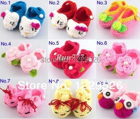 Häkeln Handmade Knit Babyschuhe Multi Muster Baby Blumen Tier Schuhe ...