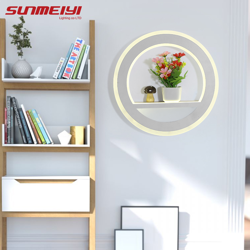 Modern Led wall lamp bathroom mirror lights sconce bedroom living room luminaire lamparas de pared lighting fixture bedside wooden wall lamp wood glass aisle wall lights lighting for living room modern wall sconce lights aplique de la pared