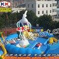 Большая белая акула тема водный рай парк развлечений надувная водная горка бассейн парк для земли