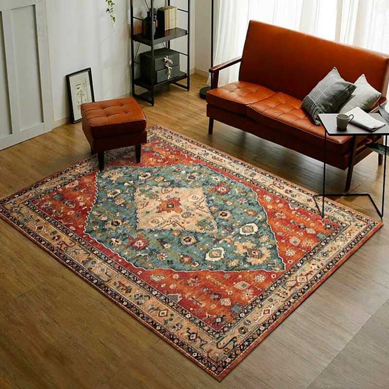 Morocco Style Carpets For Living Room Home Bedroom Carpet Sofa Coffee Table Bohemia Rug Study Room Floor Mat Vintage Rugs