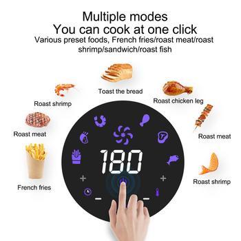 1350W 3.8L Frytkownica Elektryczna Beztłuszczowa Frytownica Cyfrowy Ekran Dotykowy LED Timer Temperatura Kontrola Mocy Bezolejowa Beztłuszczowa Frytownica Elektryczna