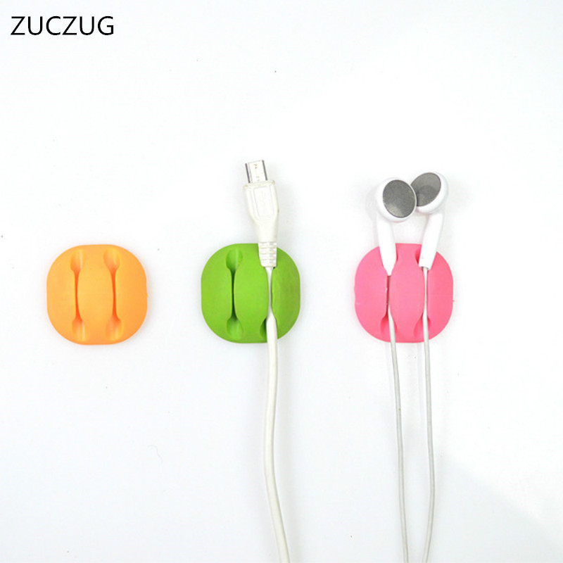 ZUCZUG Color functional Cable Winder Cable Organizer Earphone Clip Cord Management Desktop Cables Holder Wires Organization ...