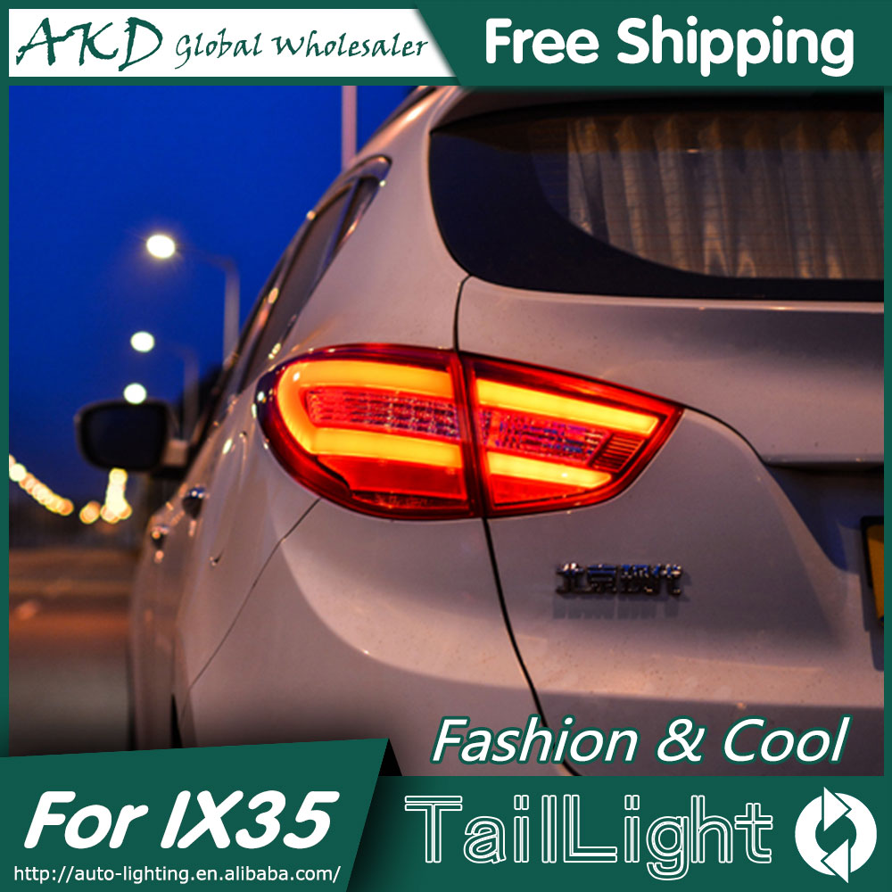 AKD Car Styling for Hyundai IX35 Tail Lights 2010-2015 New Tuscon LED Tail Light Rear Lamp DRL+Brake+Park+Signal