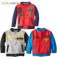 Boys Children Clothing Long Sleeve Sweater Baby Boy Jackets Coat Cartoon Print Sportsuit Toddler Outerwear 0-5Year/Autumn BC1215