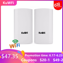 2PCS 2.4Ghz 300Mbps 2KM P2P Wireless Outdoor Wireless CPE Bridge Router Supports WDS Function No setting with LED Display