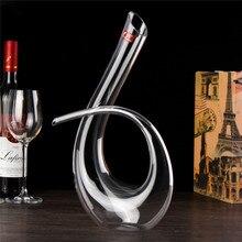 6 de Forma de Alta Calidad de Cristal Copa De Vino Vertedor Decantador de Vino Aireador Jarra de Vino Tinto 1200 ml