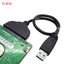 USB 3.0 To SATA 22 Pin 2.5 Inch Hard Disk Driver SSD Adapter Cable Newest