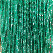 Natural Stone Emeralds Beads 2mm Small Round Loose Bead for Jewelry Making DIY Bracelet Necklace Strand 15