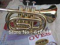 Factory Wholesale The Inventory With Bb Pocket Trumpet Appearance Golden Brown