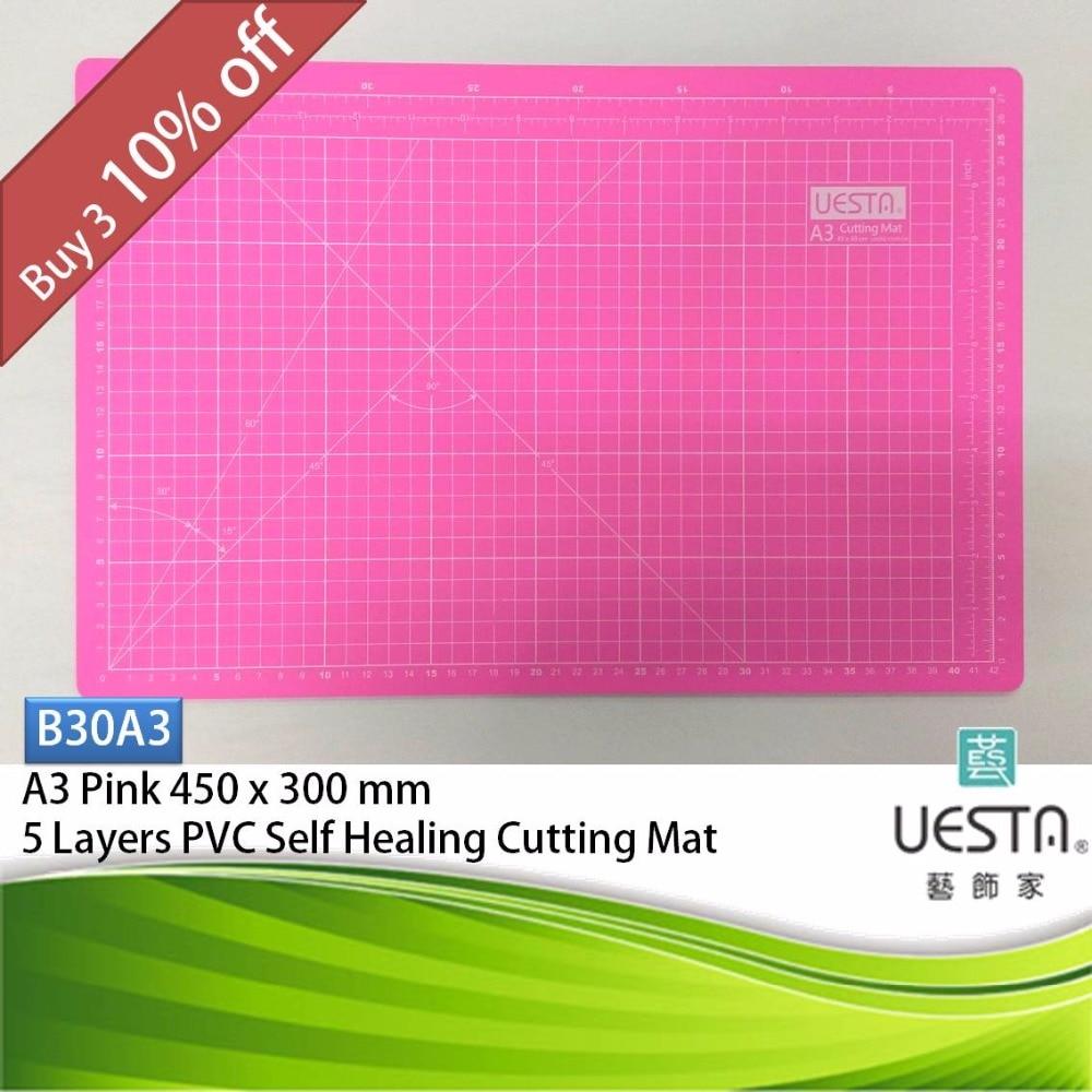 Pink 30 Mm Rectangle Self Healing 5 Layers PVC Cutting