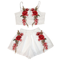 DevenGee-Sexy-Summer-Beach-Two-Piece-Set-Women-Floral-Embroidery-Vintage-Crop-Top-Shorts-Skirt-Set-White-Black-2-Piece-Outfits-5