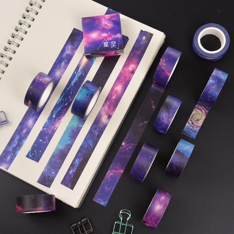 Starry Sky Washi Tape Kawaii Masking Tape Creative Washitape Wash Stickers Scrapbooking Stationery Set Material Escolar