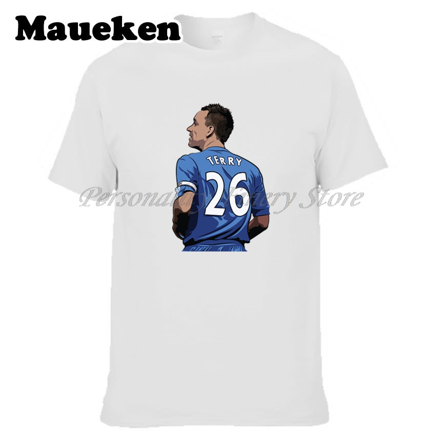 Men John George Terry #26 england Legend Captain T-shirt Clothes T Shirt Mens for chelsea fans gift o-neck tee W17080210