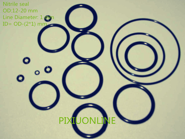 100PCS YT936 Nitrile O Rings Rubber Gasket/Backup Ring/Joint Ring ...