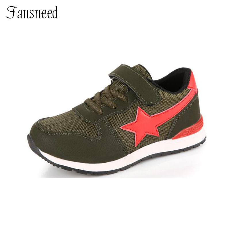 2017 children's shoes spring new boys children sneakers girls breathable mesh running shoes