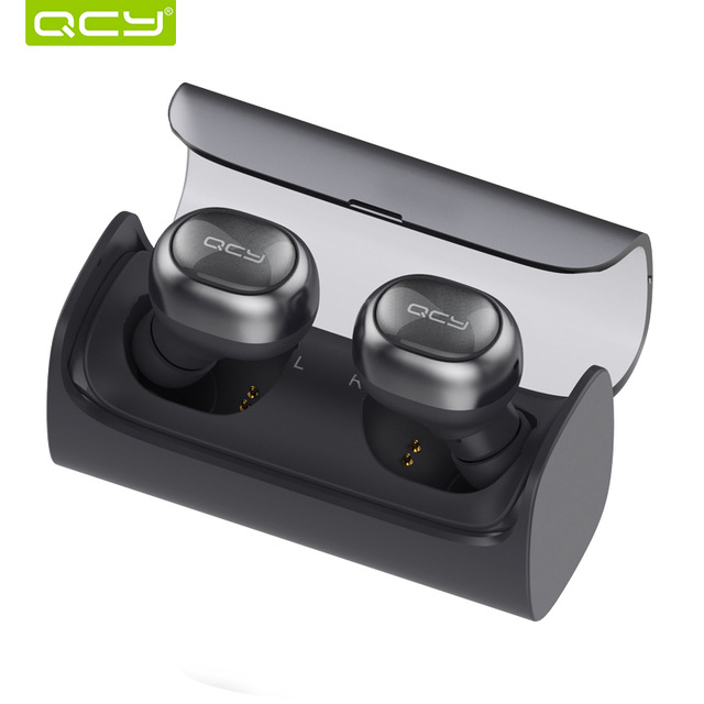 лучшая цена QCY Q29 TWS business bluetooth V4.1 earbuds stereo headset wireless in-ear earphone gamer with mic handsfree and QCY storage box