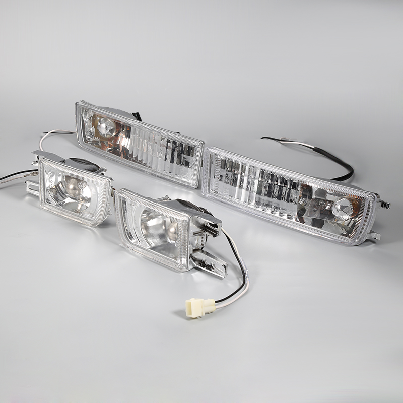 High Quality A Pair of Transparent Lens For 1993-1999 Volkswagen Golf Jetta MK3 Front Grille Fog Lights+Turn Signals Combination golf 3 td 2011