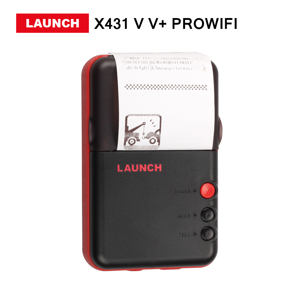 Launch X431 V V+ PROWIFI Mini Printer Universal Full System  High quality launch x431 idiag connector full set package x 431 easydiag adapter launch x431 yellow box without b enz 38 pin adapter in stock