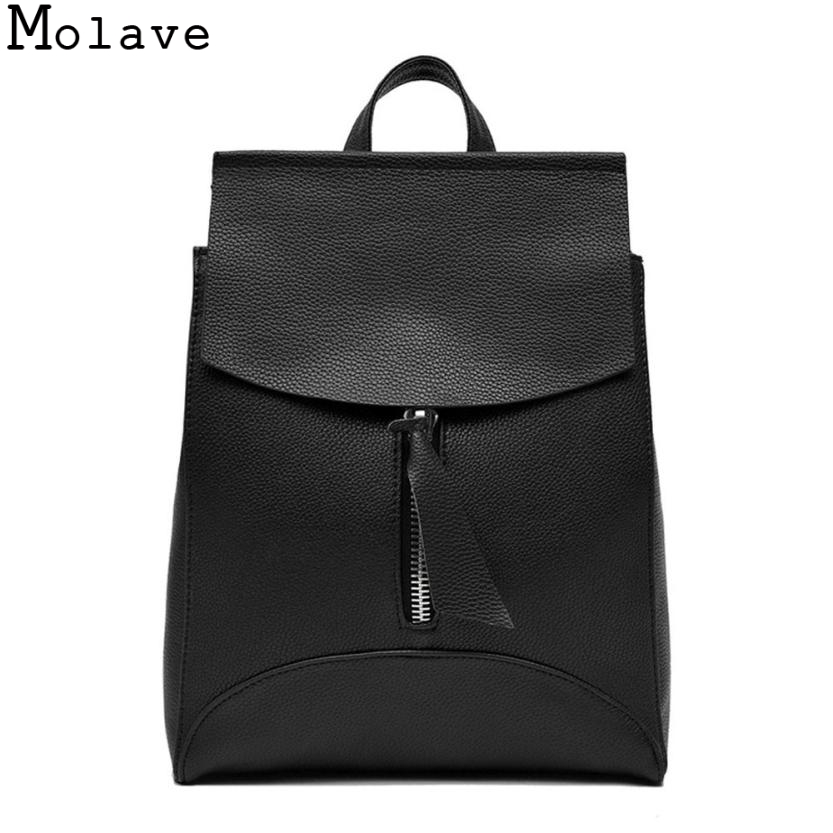 MOLAVE Women Backpack High Quality Youth Leather Backpacks for Teenage Girls Female School Shoulder Bag Bagpack mochila Oct9